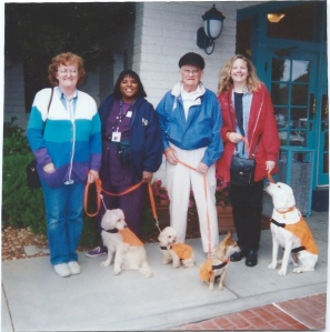 Hearing dogs and handlers